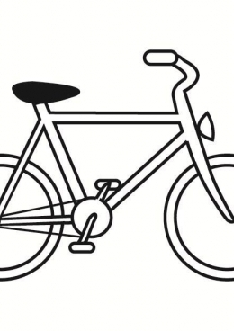 Картинки раскраски велосипеда