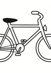 Раскраска малышам велосипед