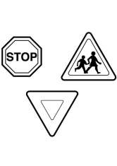 Раскраска Дорожные знаки