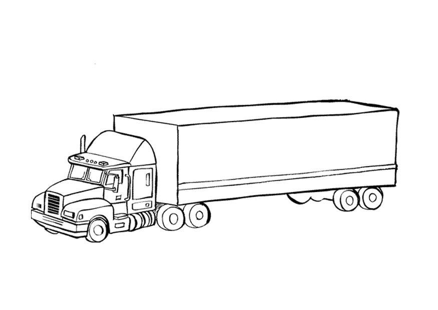 фургон прицепом раскраска с