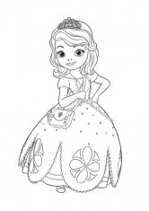 Раскраска София с сумочкой
