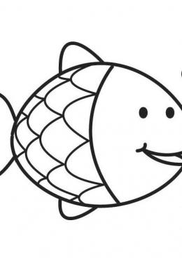Раскраска Рыбка из пруда, скачать и распечатать раскраску ...