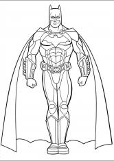 Раскраска Бэтмен в костюме