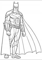 Раскраска Супергерой Бэтмен
