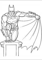 Раскраска Бэтмен и его супер плащ