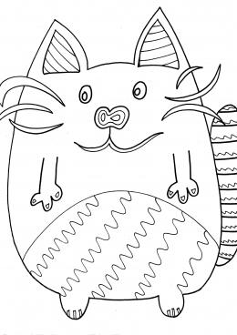Толстые коты раскраски