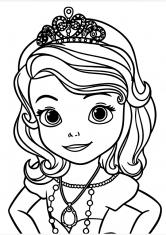 Раскраска Большой портрет Софии