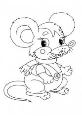 Раскраска Мышка в штанишках