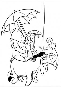 раскраски винни пух и тигра дисней мультфильмы сказки
