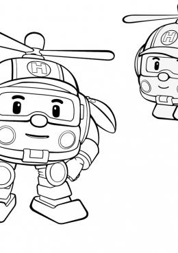 Раскраска Вертолет спасатель Хейли, скачать и распечатать ...