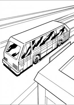 Раскраска Автобус Хот Вилс, скачать и распечатать ...