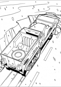 Раскраска Снегоуборочная машина Хот Вилс, скачать и ...