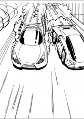 Раскраска гоночный машины