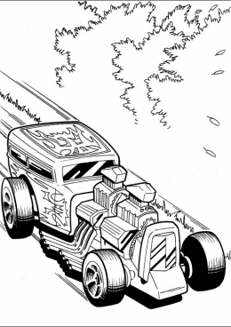 Раскраска Грозный гоночный автомобиль, скачать и ...