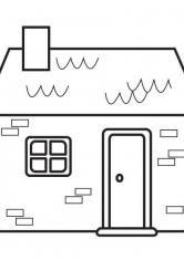 Раскраска Дом из кирпича
