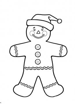 gingerbread man old lady coloring pages | Раскраска Пряничный человечек, скачать и распечатать ...
