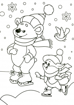 раскраски зима времена года снег дождь скачать и