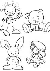 раскраски предметы игрушки посуда скачать и распечатать