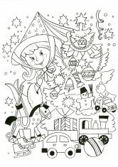 Раскраска Новогодняя Фея