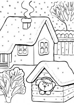 Картинки о зиме напечатать