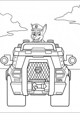 Раскраска Полицейская машина Гонщика, скачать и ...