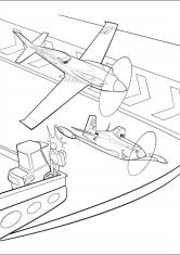 Раскраски самолеты дасти распечатать