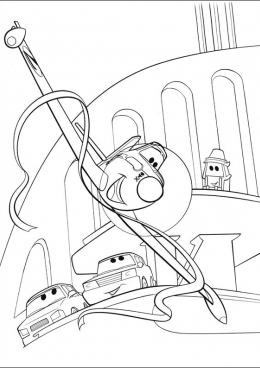 Мультфильм раскраска самолеты