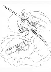 Раскраска Самолеты в небе