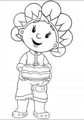 Раскраска Фифи испекла торт