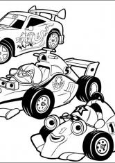 Раскраска Три гонки