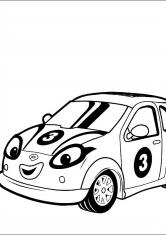 Раскраска Электромобиль Сиси