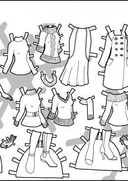 Раскраска Осенний комплект одежды, скачать и распечатать ...