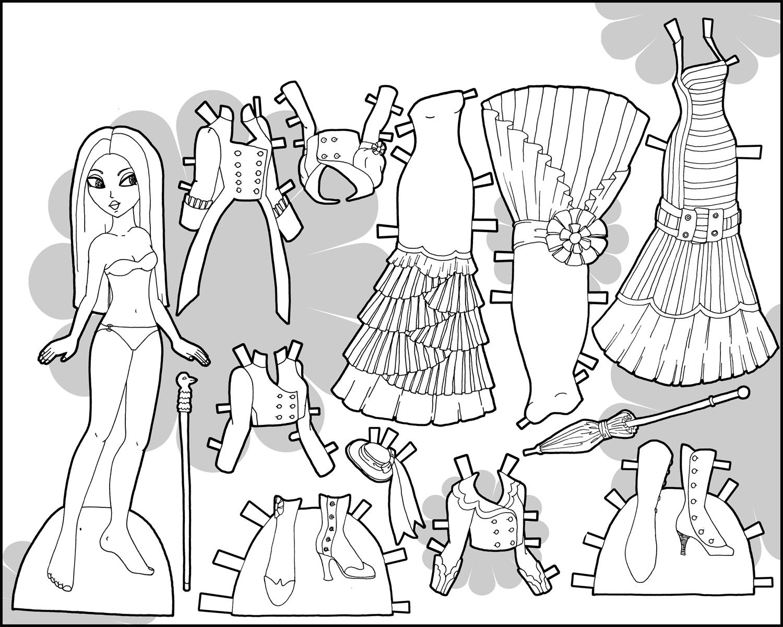 Раскраска с бумажными куклами