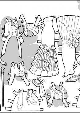 Платья для куклы распечатать