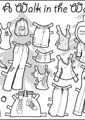 раскраски бумажные куклы скачать и распечатать бесплатно