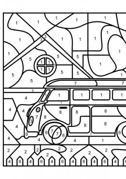 Раскраска Городской автобус, скачать и распечатать ...