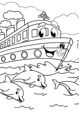 раскраски корабли машины корабли самолёты скачать и