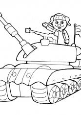 Раскраска Игрушечный танкист
