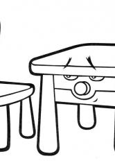Раскраска Стол и стул