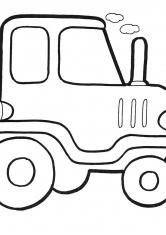 Раскраска Трактор дыр-дыр