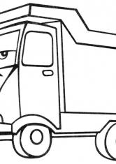 Раскраска Пустой грузовик
