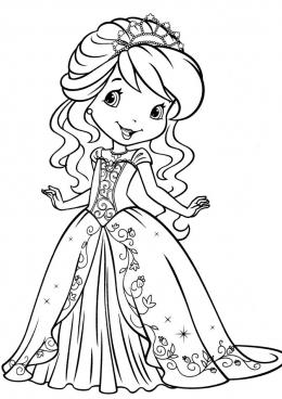 Раскраска принцесса шарлотта