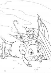 Раскраска мышка и сыром