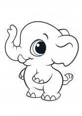 Раскраска Маленький слон