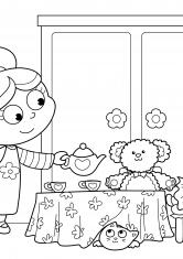Раскраска Праздничное чаепитие