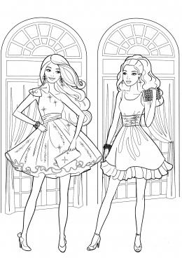 Барби с платьями распечатать
