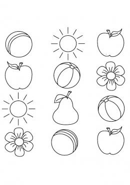 Раскраска Раскрась яблоки, скачать и распечатать раскраску ...