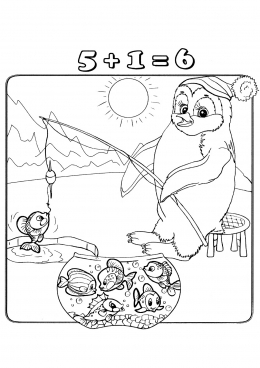 Раскраски. Пингвины на санках. Раскраски, пингвин | 368x260