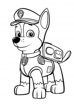 Раскраски щенячий патруль гонщик распечатать