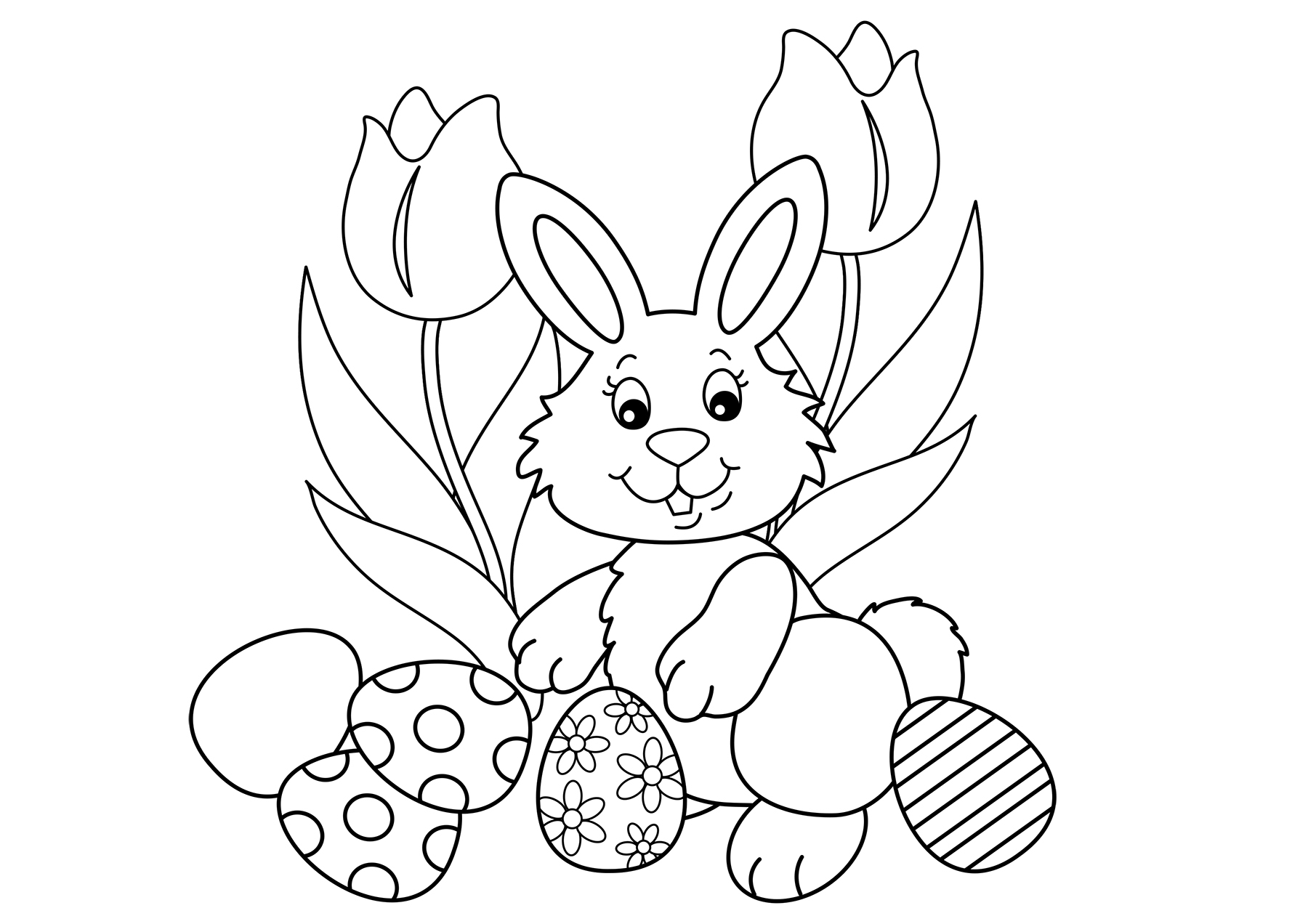 Select your favourite easter eggs coloring pages below